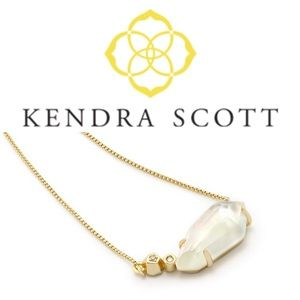 Kendra Scott Barbara Necklace Clear Stone